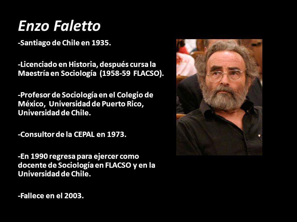 Enzo Faletto -Santiago de Chile en 1935.