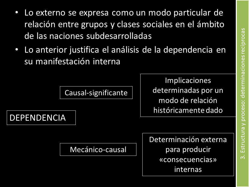 3. Estructura y proceso: determinaciones reciprocas