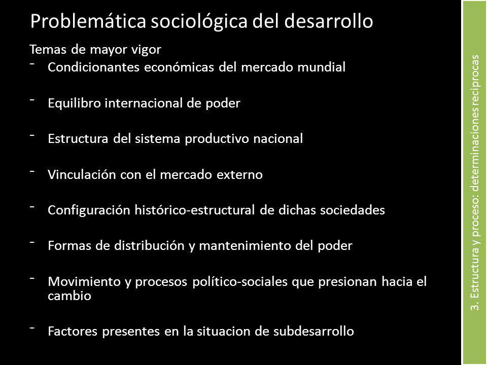 Problemática sociológica del desarrollo