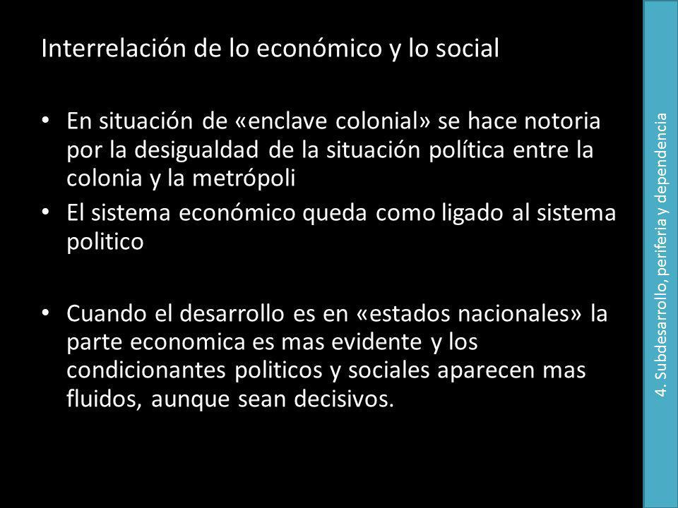 4. Subdesarrollo, periferia y dependencia