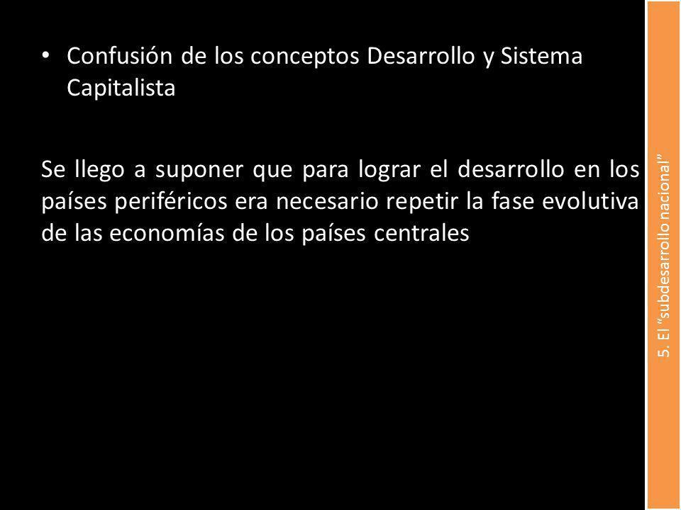 5. El subdesarrollo nacional