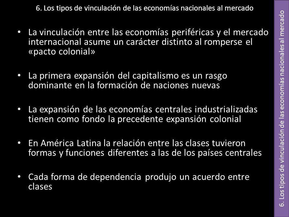 6. Los tipos de vinculación de las economías nacionales al mercado