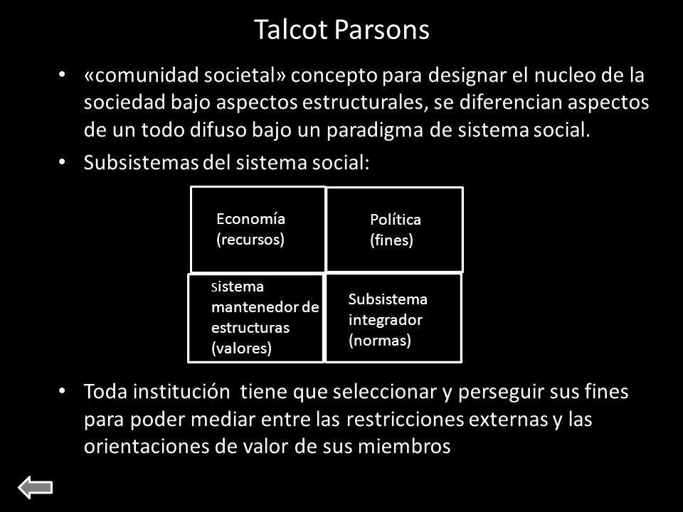 Talcot Parsons