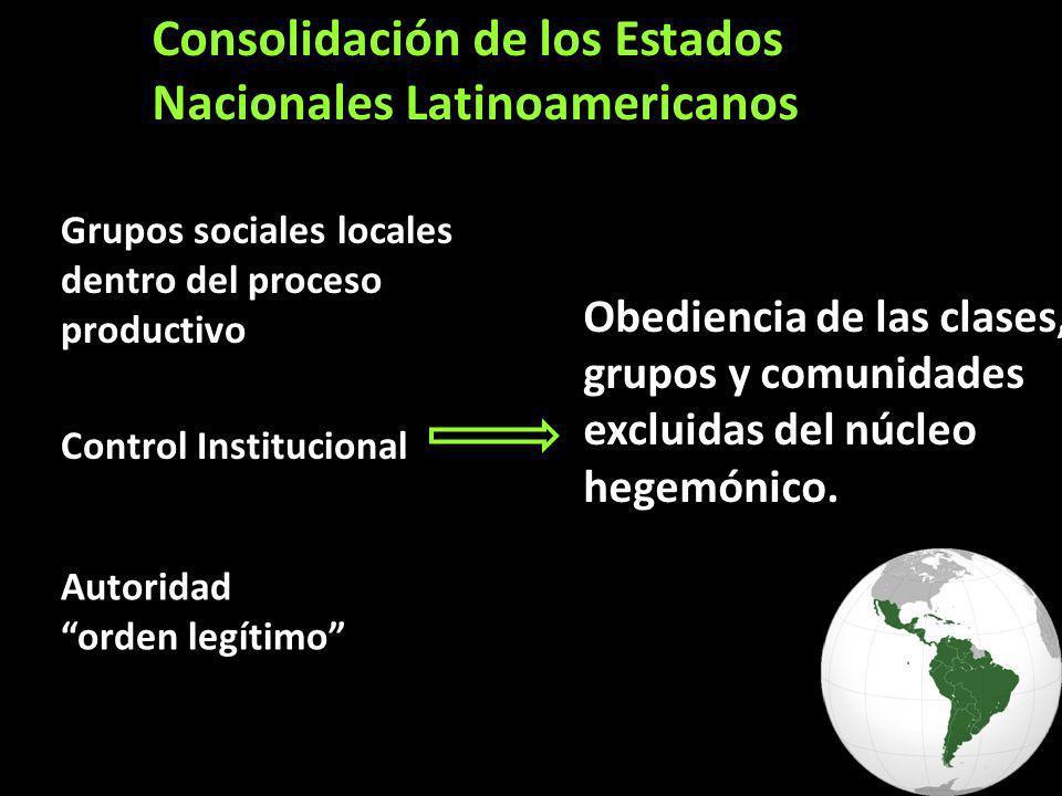 Consolidación de los Estados Nacionales Latinoamericanos