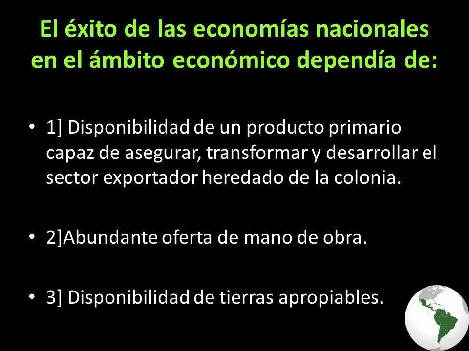 El éxito de las economías nacionales en el ámbito económico dependía de: