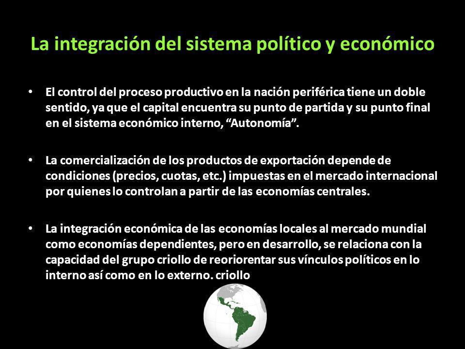 La integración del sistema político y económico