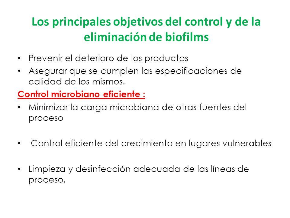 Los principales objetivos del control y de la eliminación de biofilms
