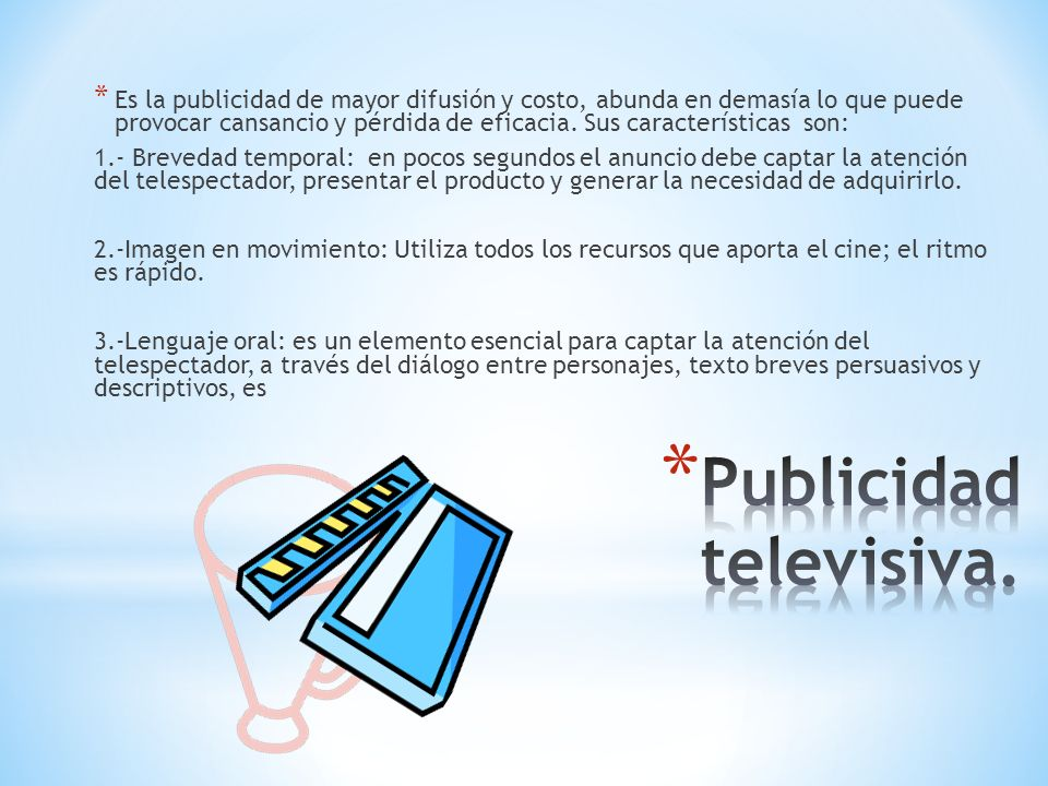 Publicidad televisiva.