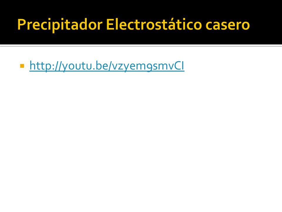 Precipitador Electrostático casero