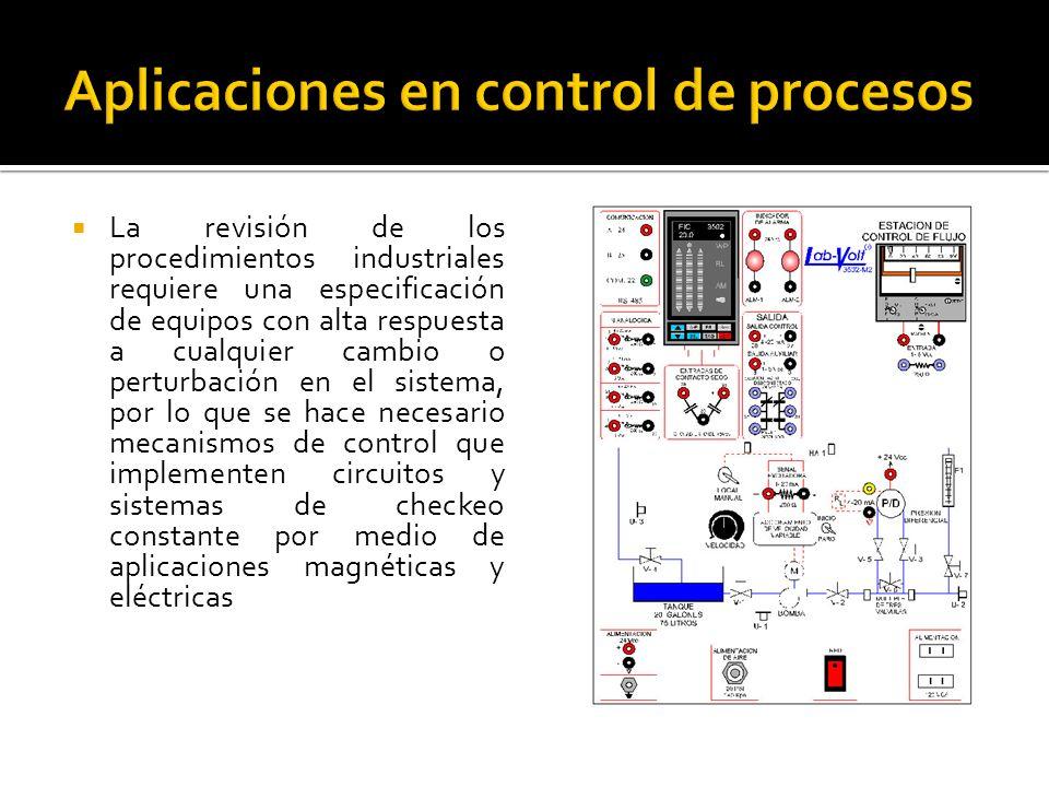 Aplicaciones en control de procesos