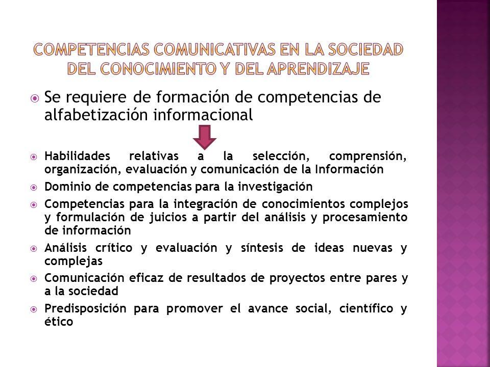 Competencias comunicaTIVAs en la Sociedad del Conocimiento y del Aprendizaje