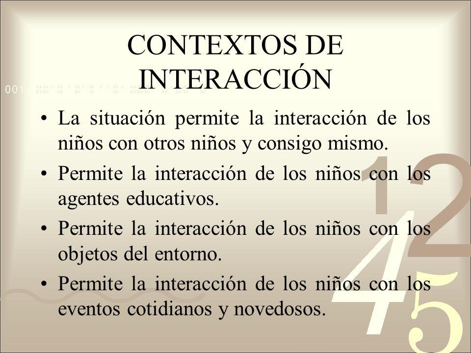 CONTEXTOS DE INTERACCIÓN