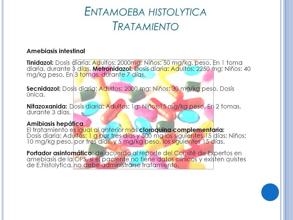 Entamoeba histolytica Tratamiento