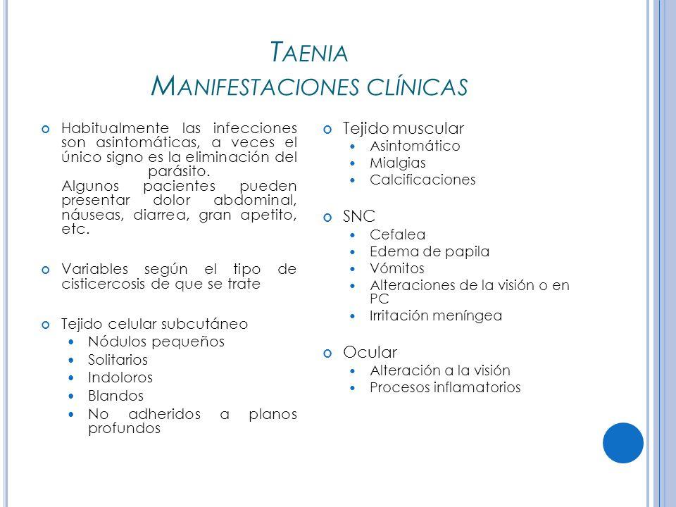 Taenia Manifestaciones clínicas