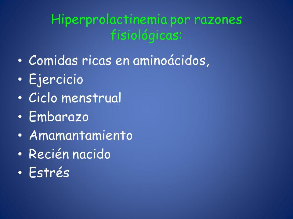 Hiperprolactinemia por razones fisiológicas: