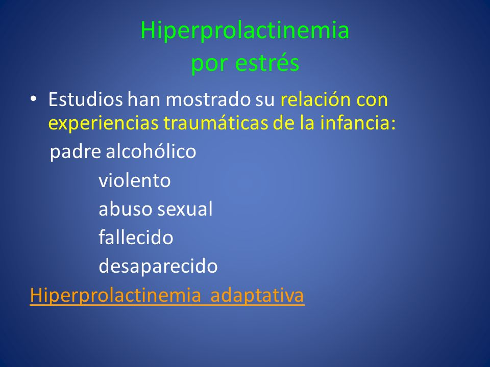 Hiperprolactinemia por estrés