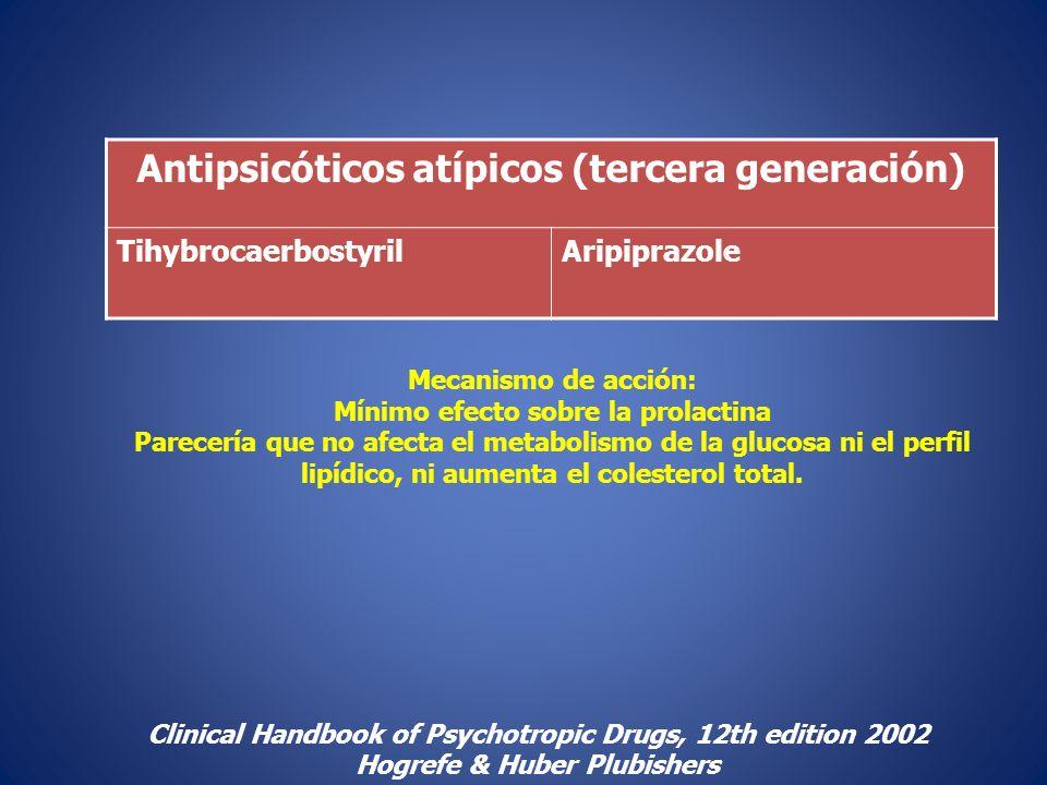 Antipsicóticos atípicos (tercera generación)