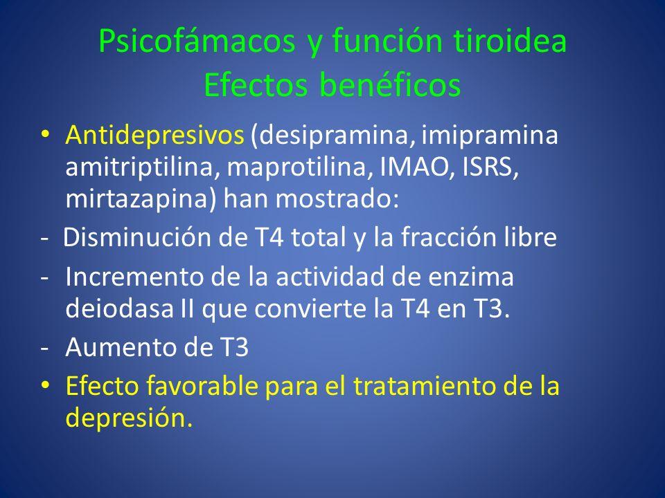 Psicofámacos y función tiroidea Efectos benéficos