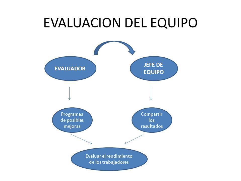 EVALUACION DEL EQUIPO JEFE DE EQUIPO EVALUADOR