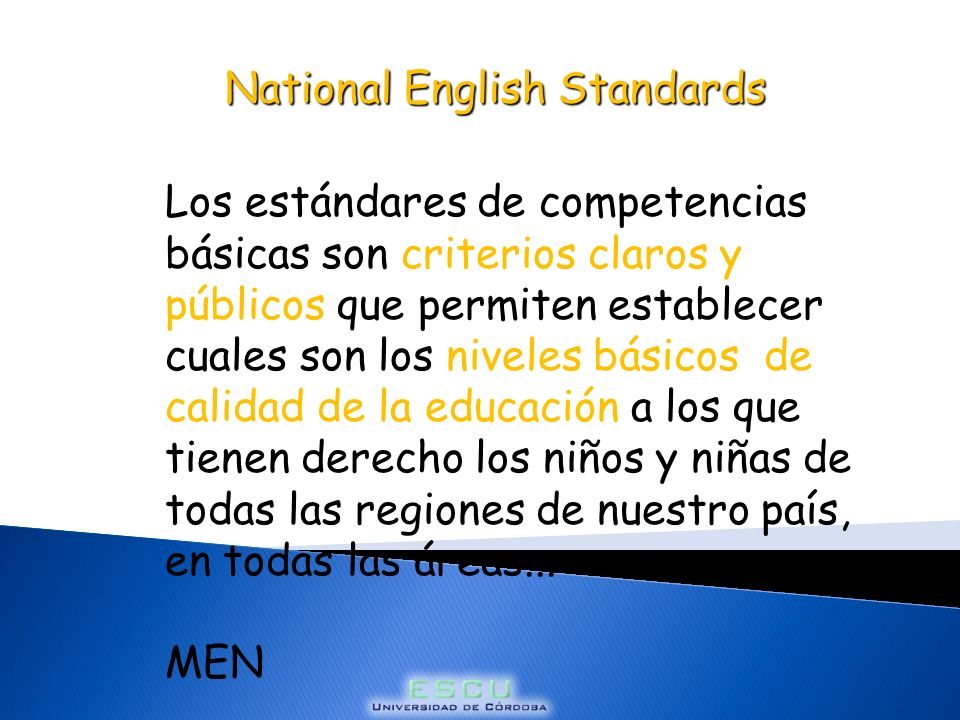 National English Standards