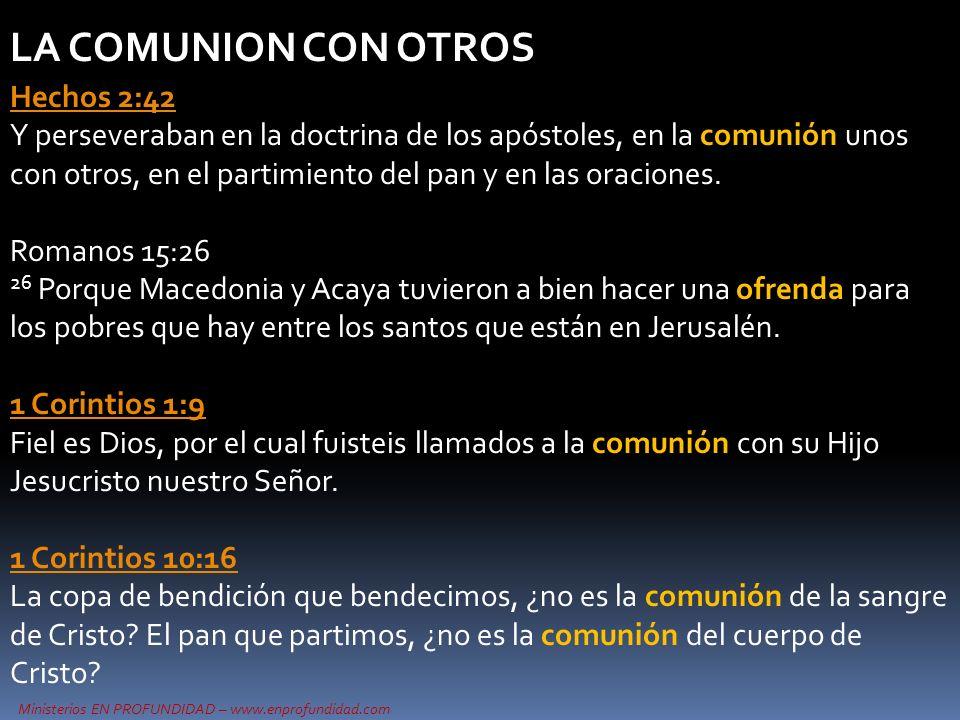 LA COMUNION CON OTROS