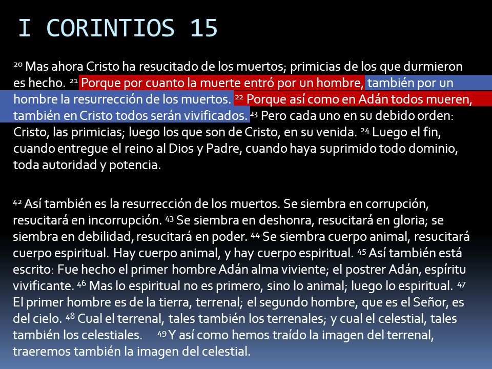 I CORINTIOS 15