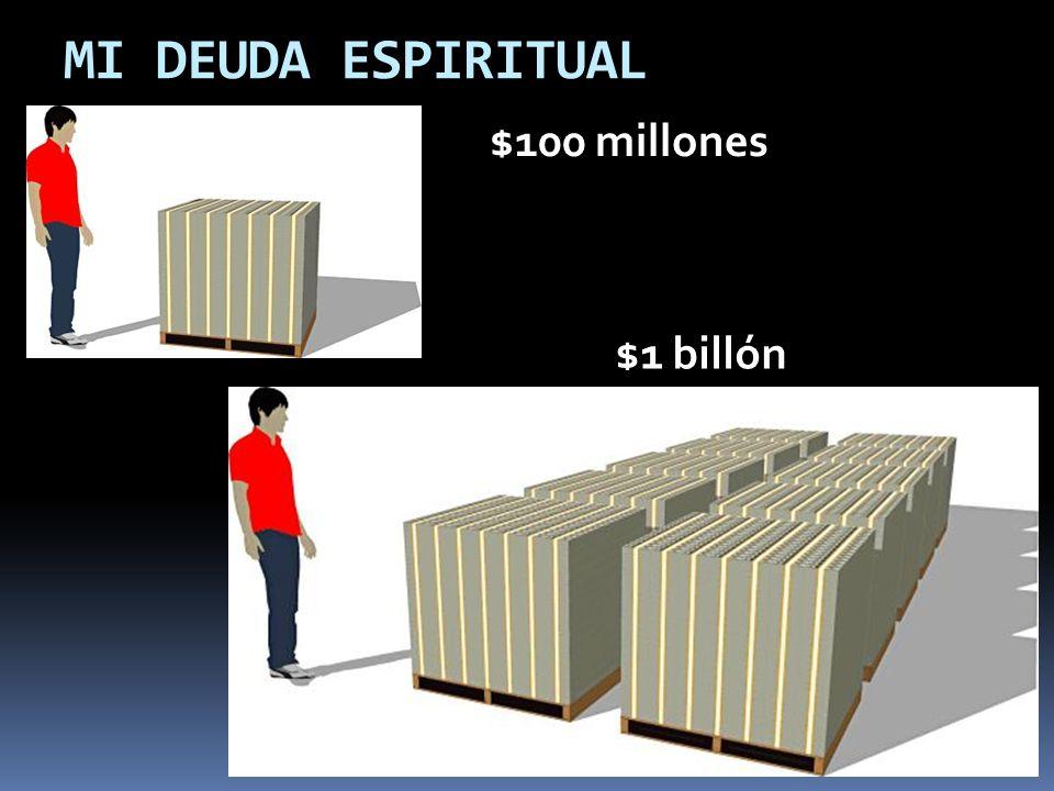MI DEUDA ESPIRITUAL $100 millones $1 billón