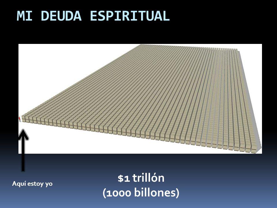 MI DEUDA ESPIRITUAL $1 trillón (1000 billones) Aquí estoy yo