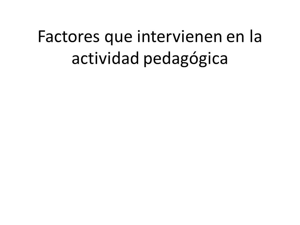 Factores que intervienen en la actividad pedagógica