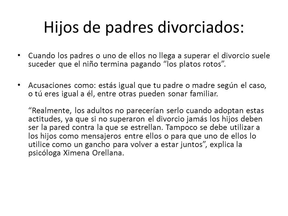 Hijos de padres divorciados: