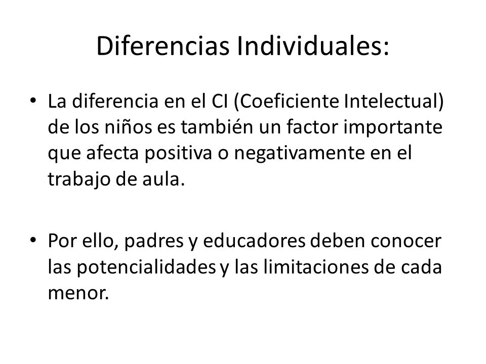 Diferencias Individuales:
