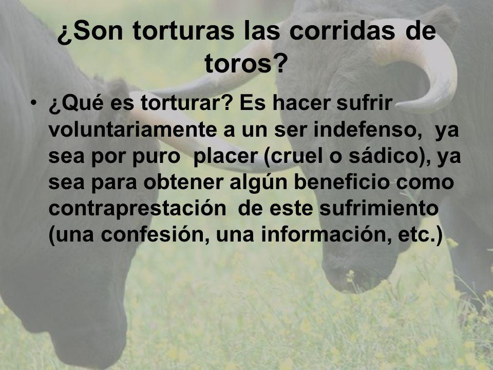 ¿Son torturas las corridas de toros