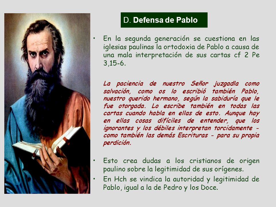 D. Defensa de Pablo