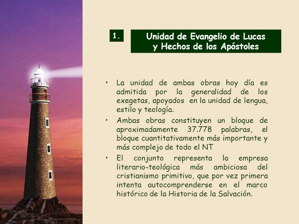 Unidad de Evangelio de Lucas y Hechos de los Apóstoles