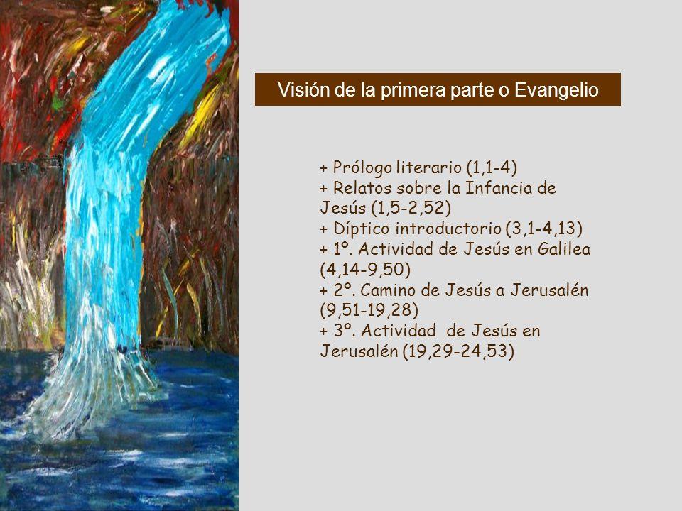 Visión de la primera parte o Evangelio