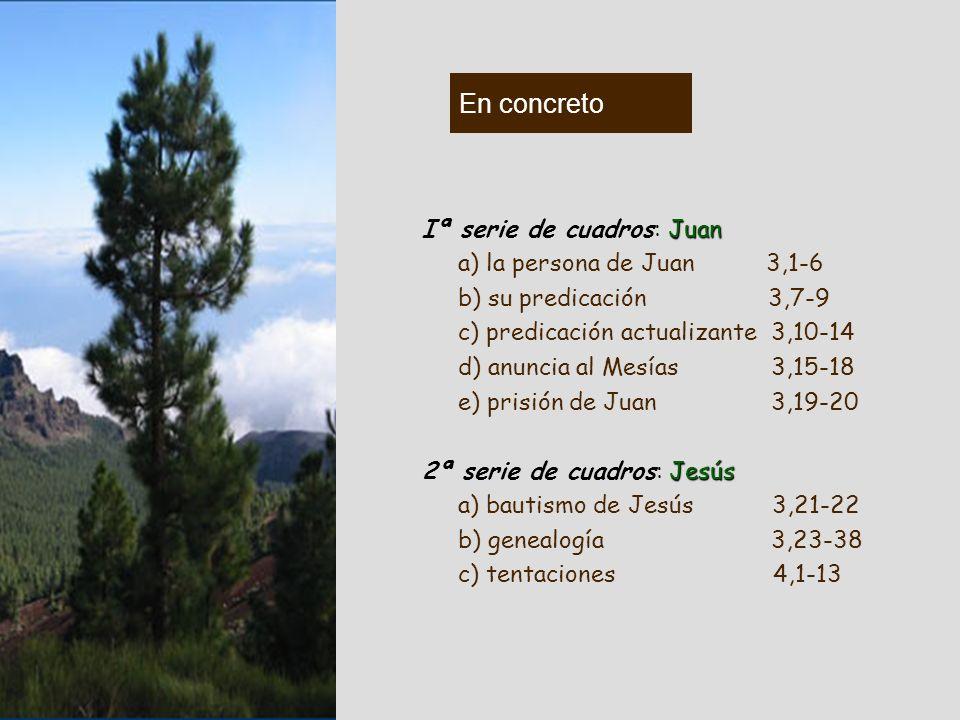 En concreto Iª serie de cuadros: Juan a) la persona de Juan 3,1-6