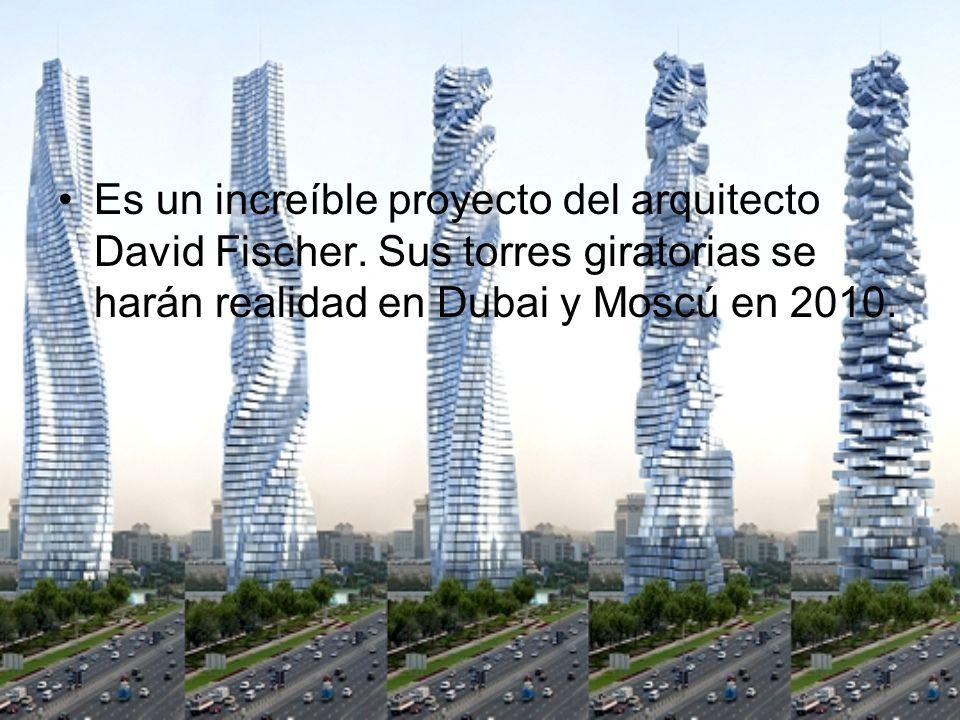 Es un increíble proyecto del arquitecto David Fischer
