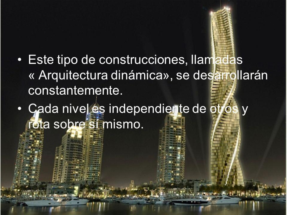 Este tipo de construcciones, llamadas « Arquitectura dinámica», se desarrollarán constantemente.