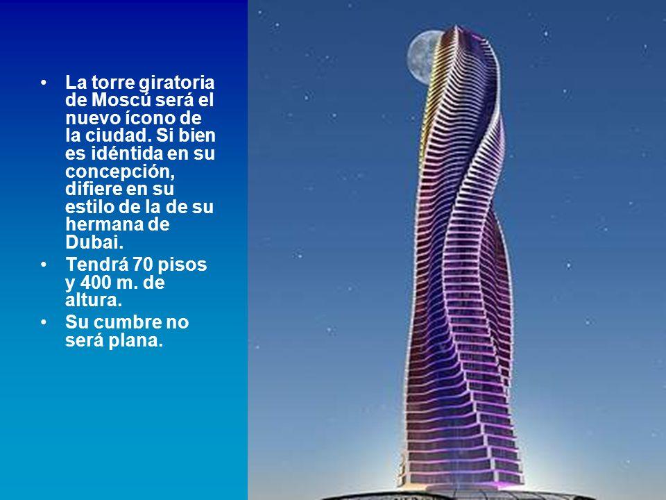 La torre giratoria de Moscú será el nuevo ícono de la ciudad
