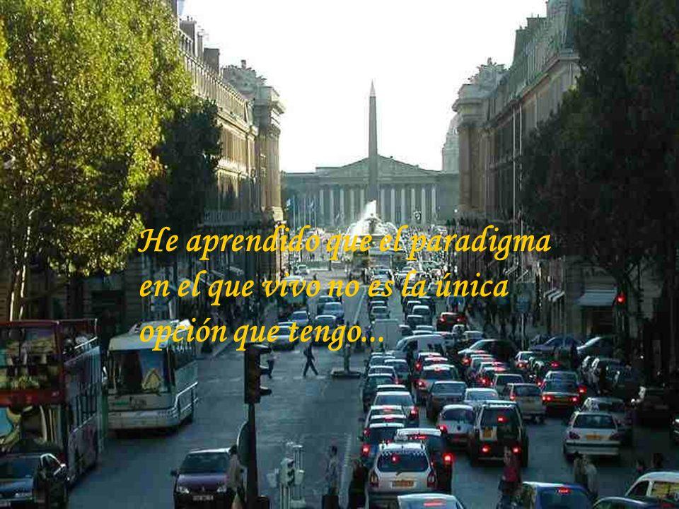 He aprendido que el paradigma en el que vivo no es la única opción que tengo...