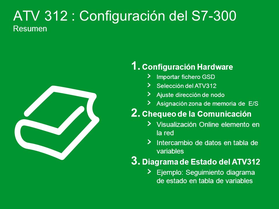 ATV 312 : Configuración del S7-300 Resumen