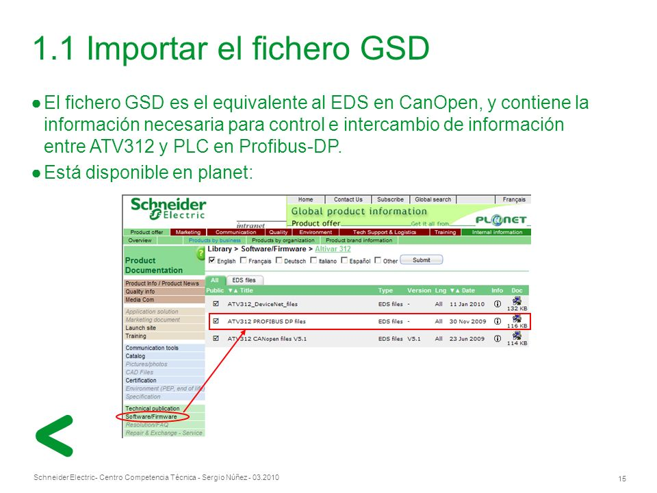 1.1 Importar el fichero GSD