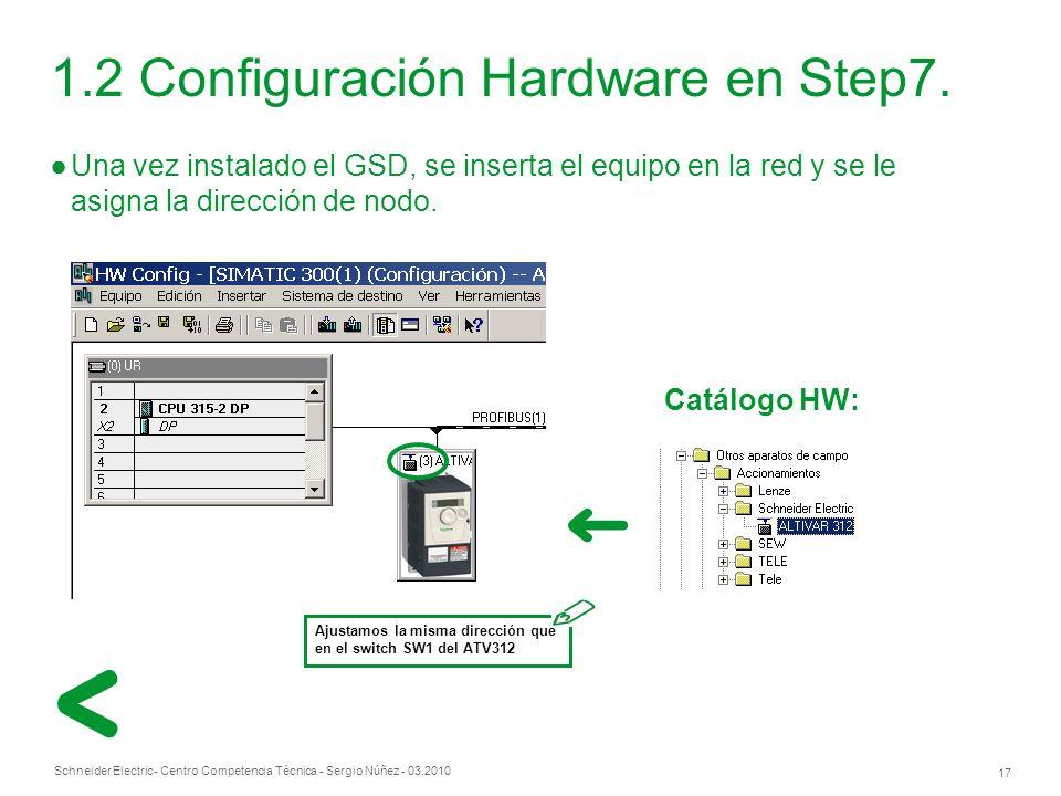 1.2 Configuración Hardware en Step7.