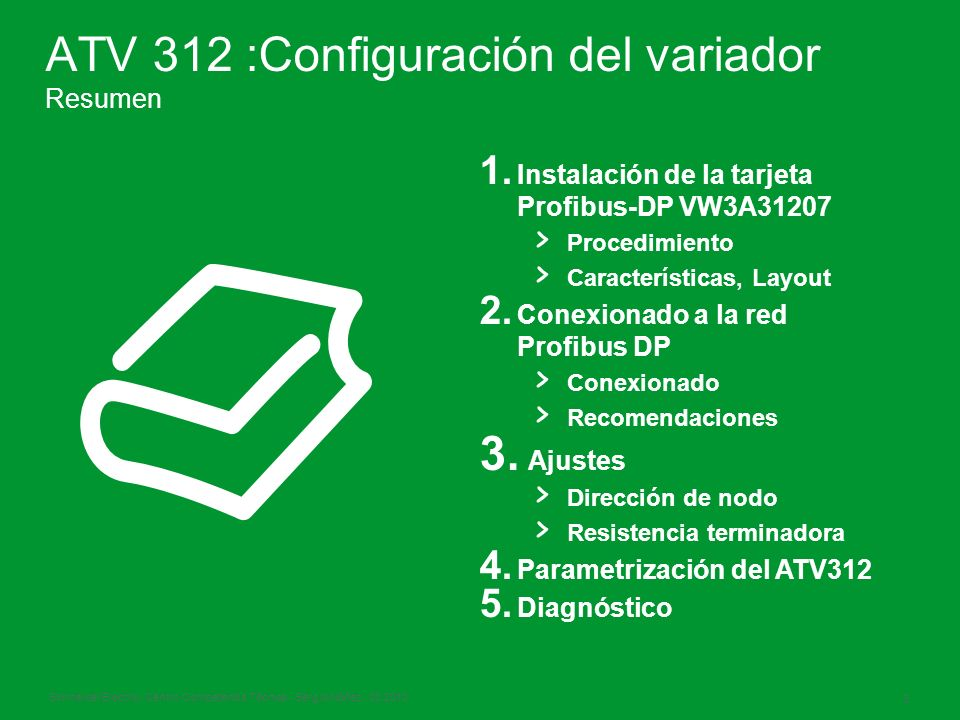 ATV 312 :Configuración del variador Resumen