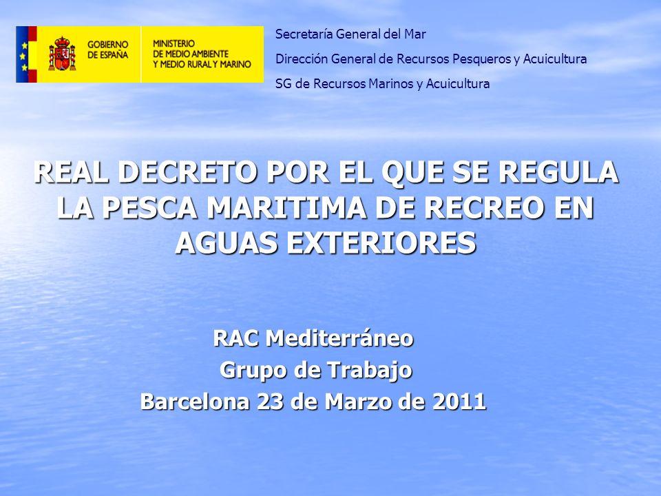 RAC Mediterráneo Grupo de Trabajo Barcelona 23 de Marzo de 2011