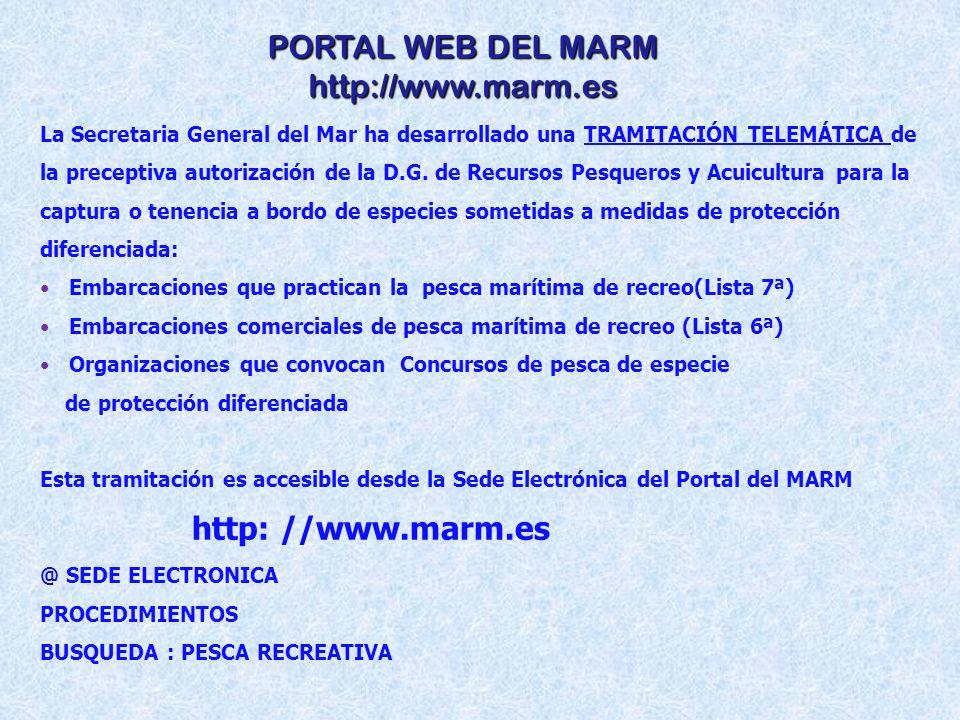 PORTAL WEB DEL MARM http://www.marm.es