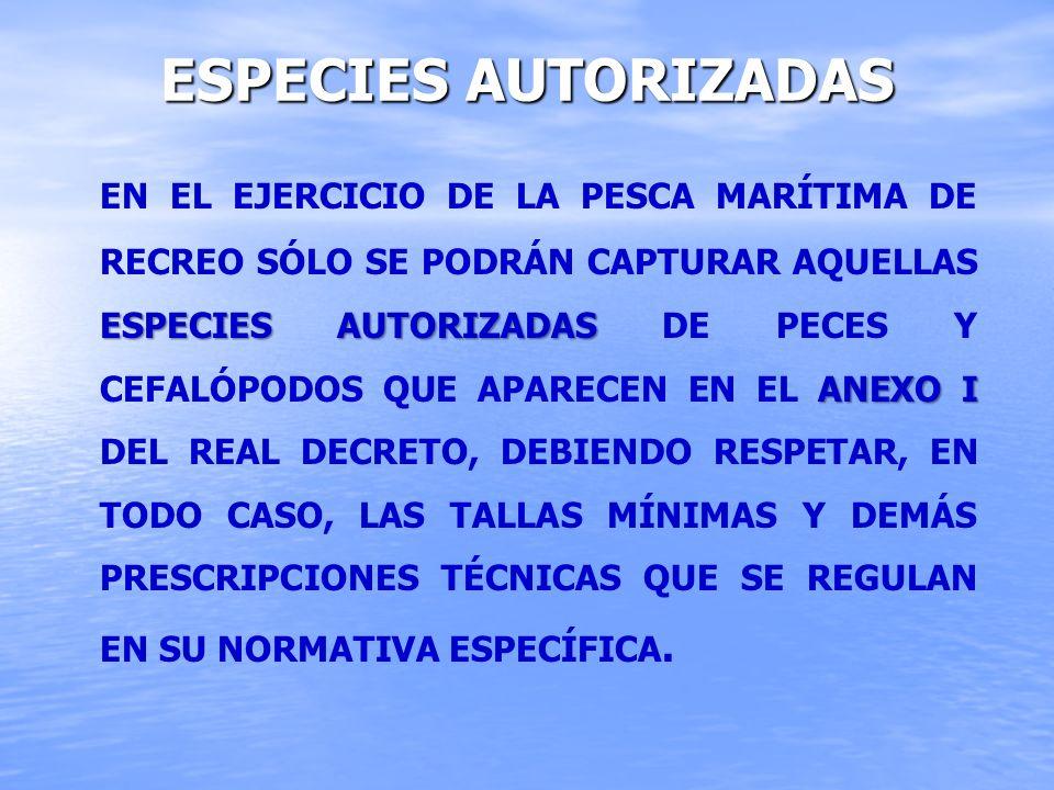 Especies autorizadas