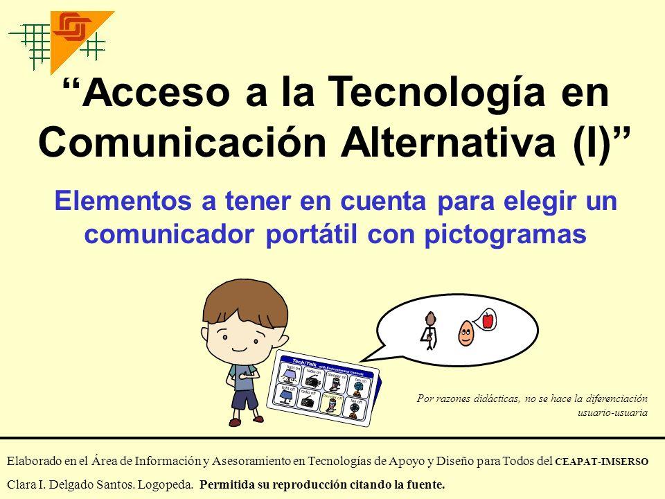 Acceso a la Tecnología en Comunicación Alternativa (I)