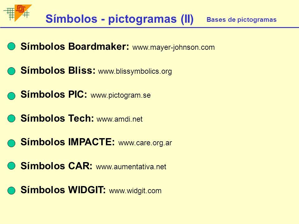 Símbolos - pictogramas (II)
