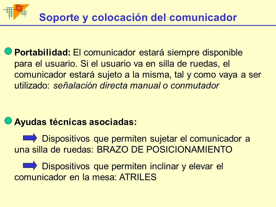 Soporte y colocación del comunicador
